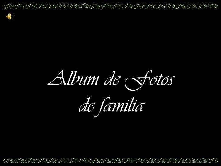 Album de familia,