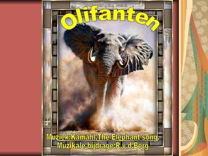 Olifanten Muziek:Kamahl,The Elephant song. Muzikale bijdrage:R.v.d.Berg