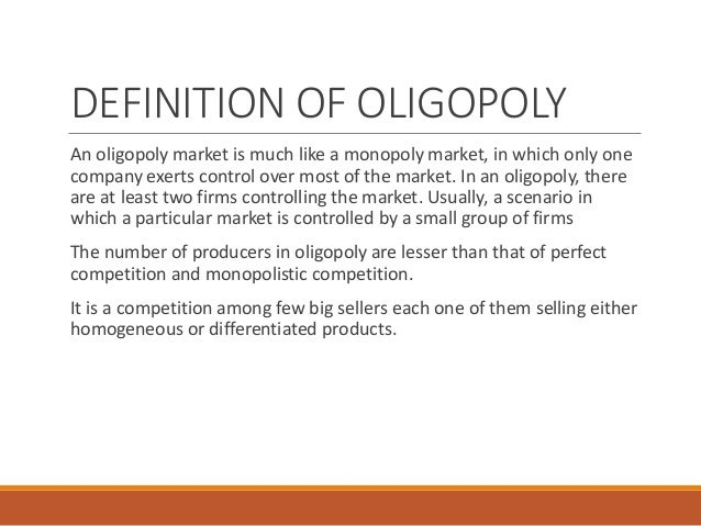 essays on oligopoly market
