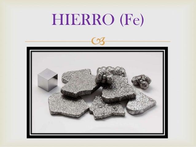 HIERRO (Fe) 