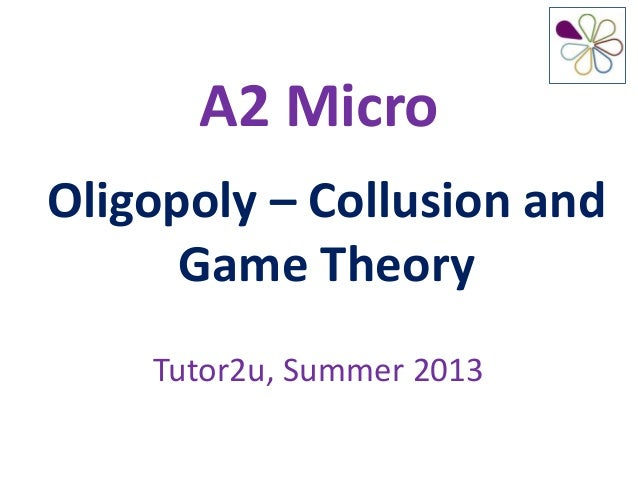 oligopoly pricing and game theory Game theory 3 oligopoly models: a kinked demand curve b price leadership  c collusion d cost-plus pricing 4 assessment of oligopoly in this topic we.