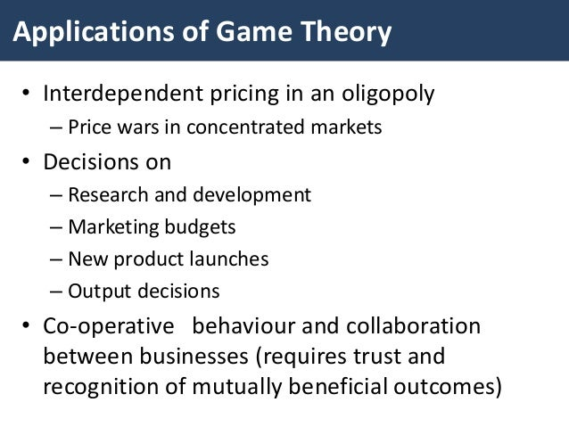an analysis of microeconomic theory in price output behavior in oligopoly Microeconomic theory price policy in oligopoly instr: dr michael chletsos submitted by: maria soulimioti price-output behavior in oligopoly the kinked demand curve: this model was developed in 1939 by the economist sweezy.