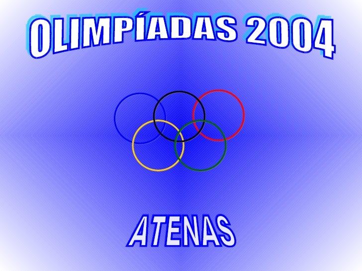 ATENAS OLIMPÍADAS 2004