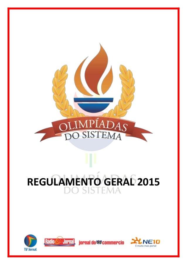 REGULAMENTO GERAL 2015
