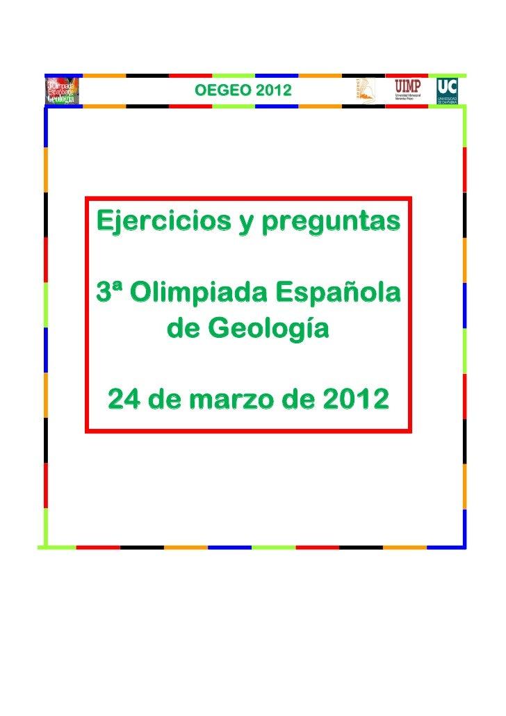 Olimpiada geología 2012