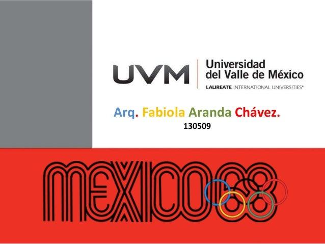 Arq. Fabiola Aranda Chávez.130509