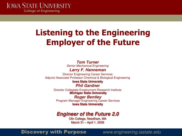 College of Engineering            Listening to the Engineering           Employer of the Future                           ...