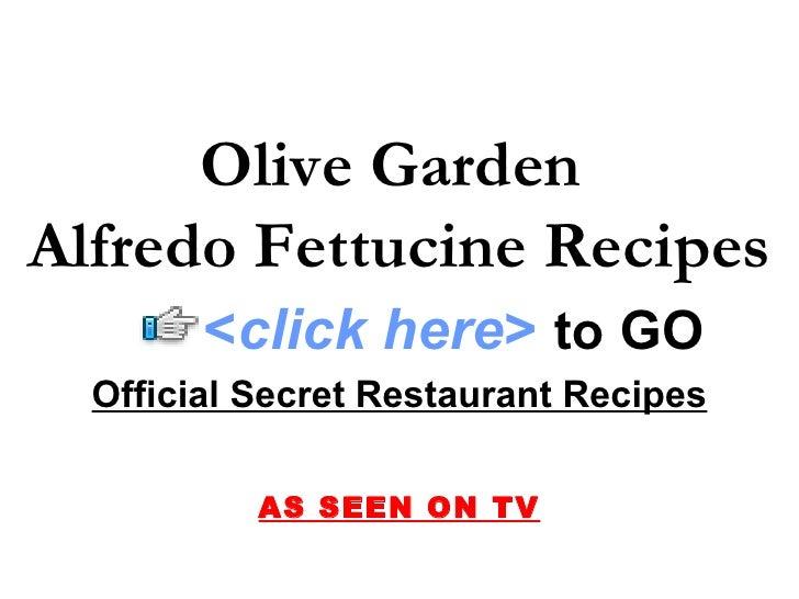 Olive Garden Alfredo Fettucine Recipes