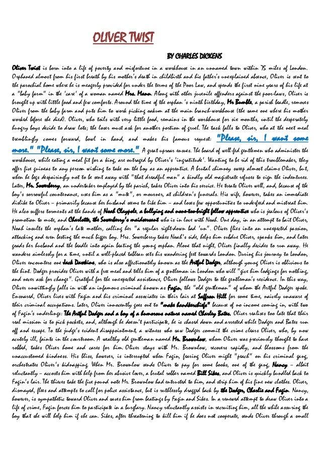 essay oliver twist poverty