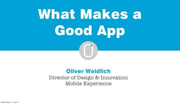 Oliver Weidlich presentation