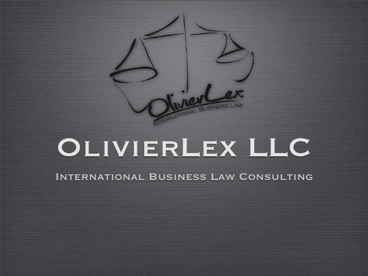 OlivierLex LLC International Business Law Consulting