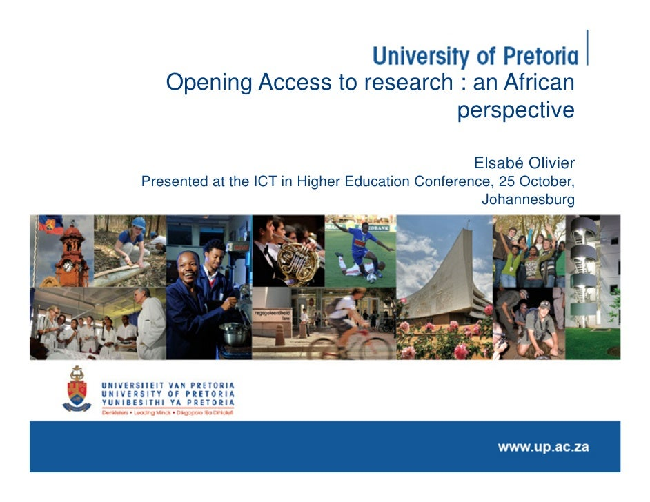 Opening Access to research : an African                              perspective                                          ...