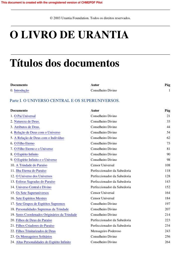 O Livro De Urantia (E Book Pt Br)