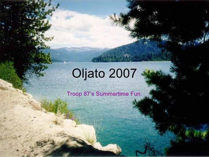 Troop 87 goes to Camp Oljato in 2007