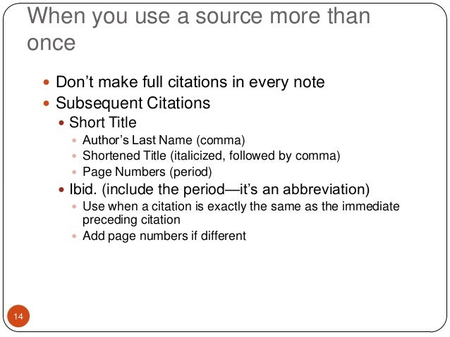 Instructions for a research paper