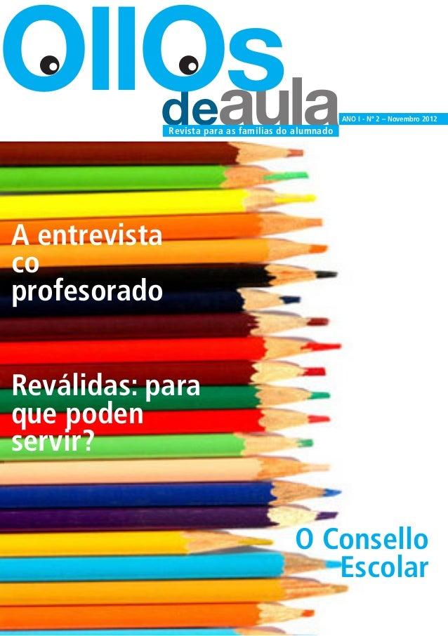 Ollos de aula. (nº 2, novembro 2012)