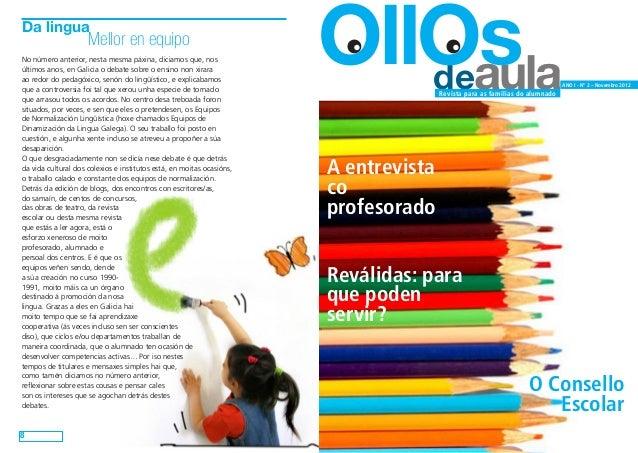 Ollos de aula. nº 2. Novembro de 2012 (versión para imprimir en A4 a dobre cara)