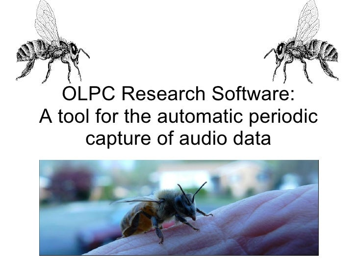 OLPC Research Software: A tool for the automatic periodic capture of audio data