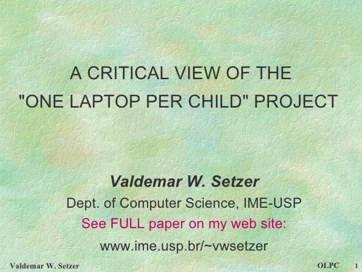 Valdemar Setzer Olpc Wcce