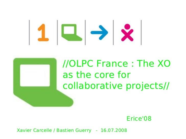 Olpc France Presentation Erice 072008 Xavier Carcelle