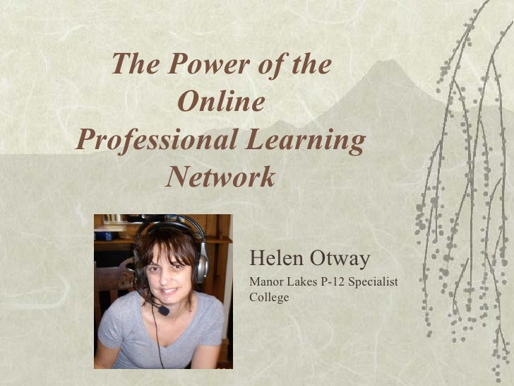 Online Professional Learning Networks