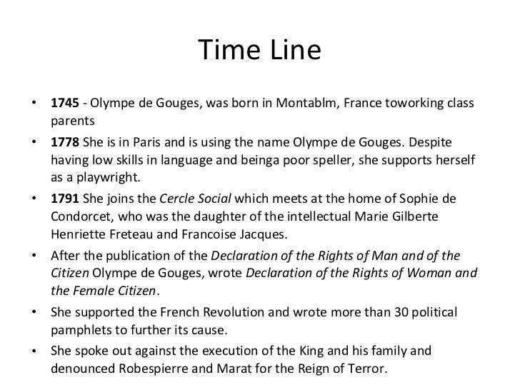 essay on olympe de gouges Olympe de gouges from the time of the  olympe used her talent as a playright to pen the declaration of the rights of women and of the  help with writing essays .