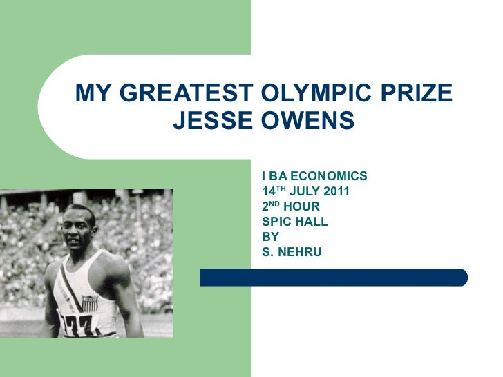 THE GREATEST OLYMPIC PRIZE-NOTES 14,JULY,2011