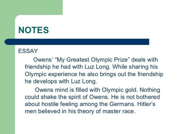 Olympic essay in english