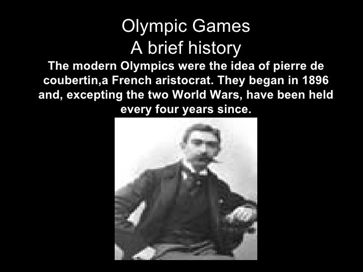 Olympic games a brief history