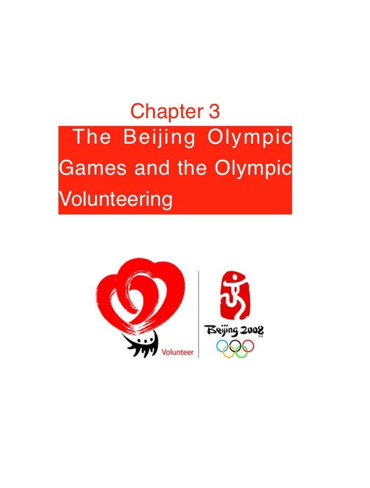 Chapter 3  The Beijing Olympic Games and the Olympic Volunteering