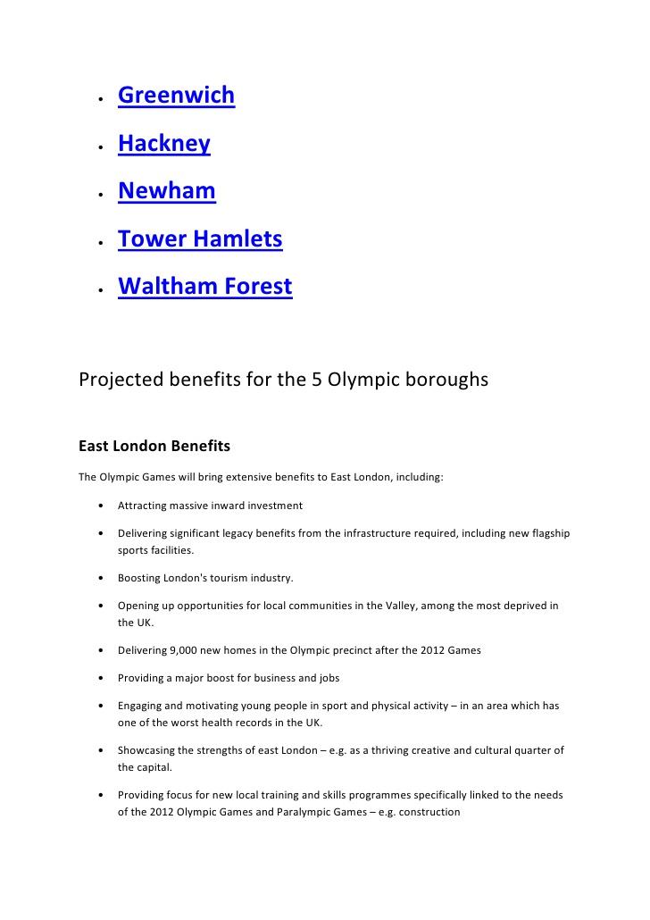 essay on olympic sports