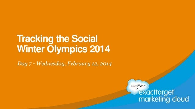 Tracking the Social Winter Olympics 2014 Day 7 - Wednesday, February 12, 2014