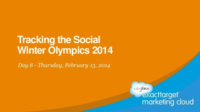 Tracking the Social Winter Olympics 2014 Day 8 - Thursday, February 13, 2014