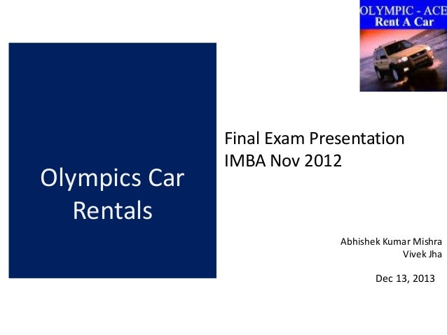 olympic rent a car essay