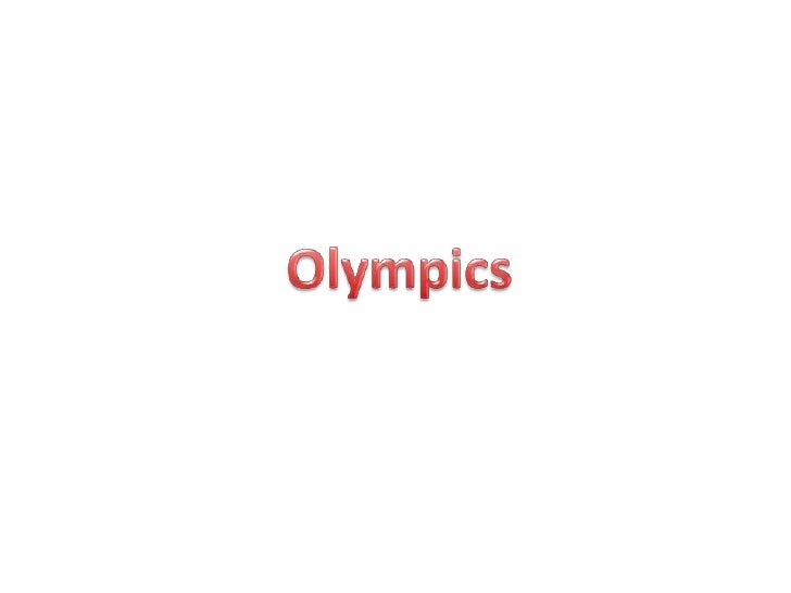 All about the Olympics by Alex