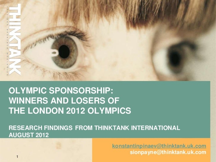 Olympic sponsorship: winners and losers of the London 2012 Olympics