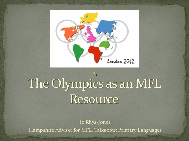 Jo Rhys-Jones Hampshire Adviser for MFL, Talkabout Primary Languages