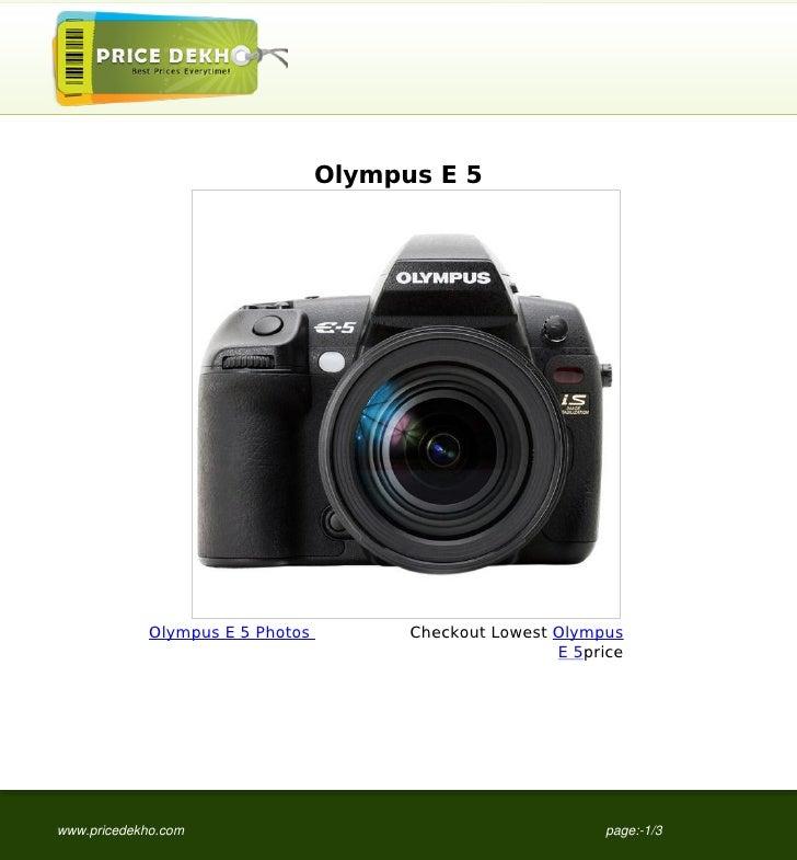 Olympus+E+5+image