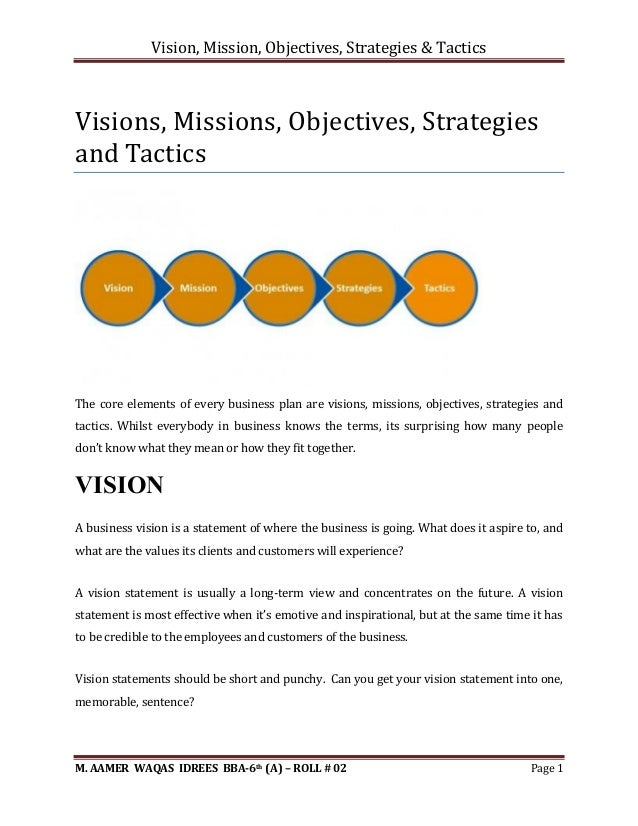 vision mission objectives of cadbury