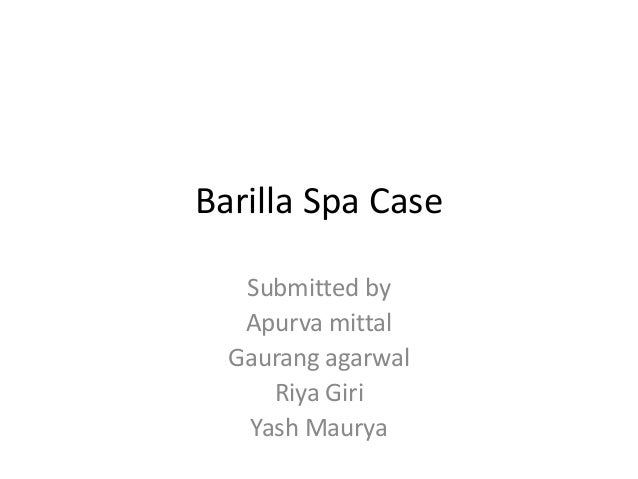 barilla spa case analysis Free case study solution & analysis | caseforestcom barilla spa is suffering from a problem of their own making - their distribution system is overly complex.