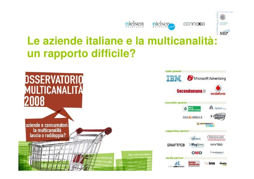 Le aziende italiane e la multicanalità: un rapporto difficile?