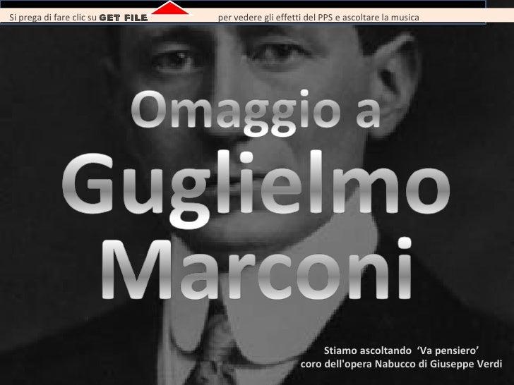 Omaggio A Guglielmo Marconi