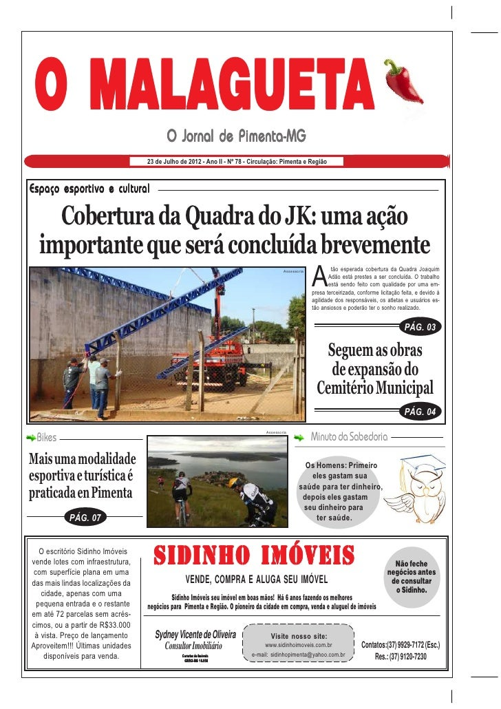 O MALAGUETA                                         O Jornal de Pimenta-MG                                  23 de Julho de...
