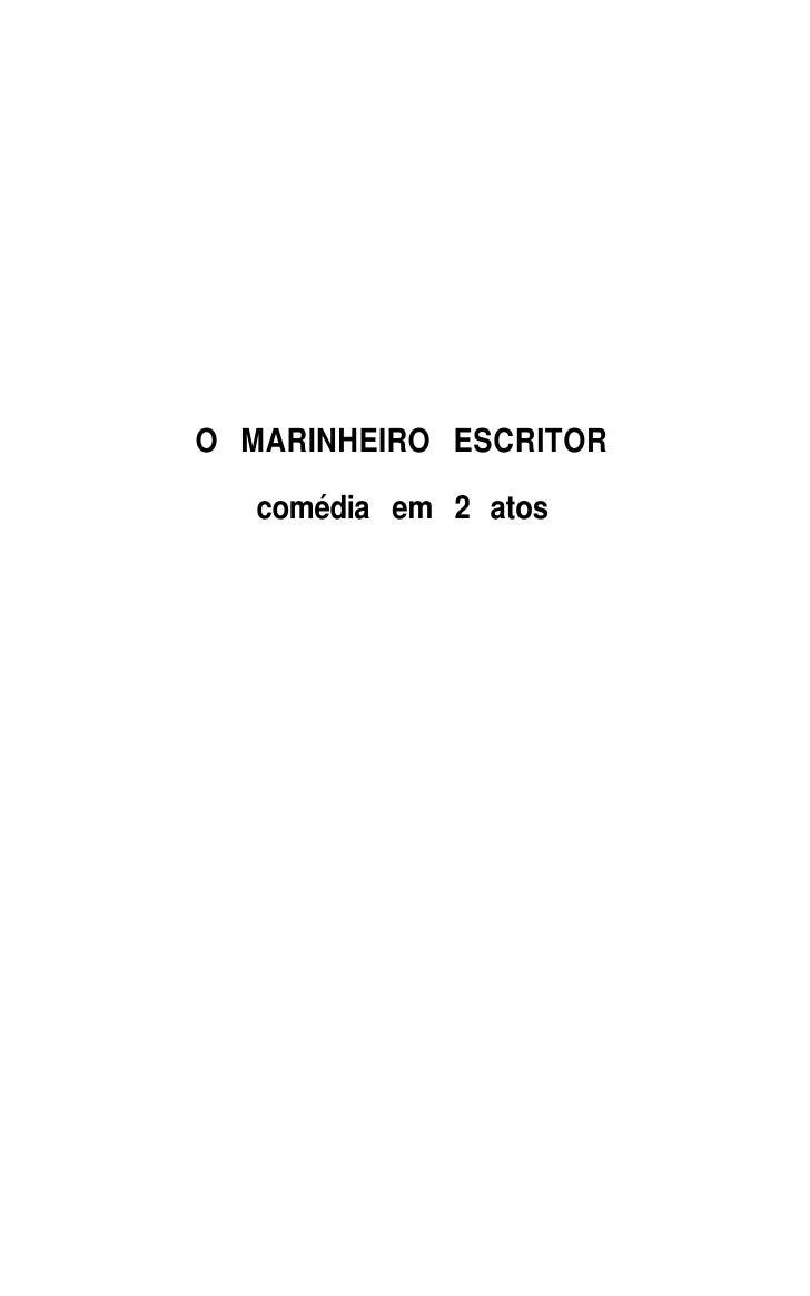 O MARINHEIRO ESCRITOR    comédia em 2 atos