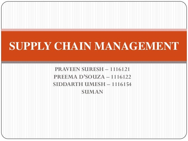 SUPPLY CHAIN MANAGMENT INTRODUCTION