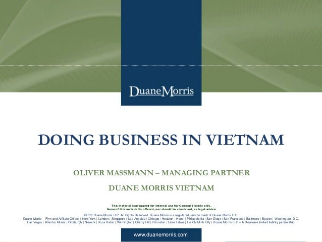doing business in vietnam essay Tmf group looks at the top 10 challenges to doing business in vietnam and how local knowledge can help your business navigate these challenges.