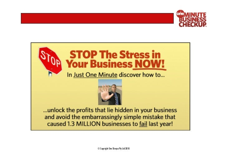 One Minute Business Checkup