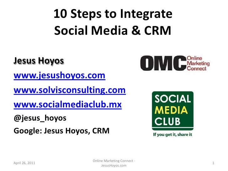 10 Steps to integrate CRM and Social Media