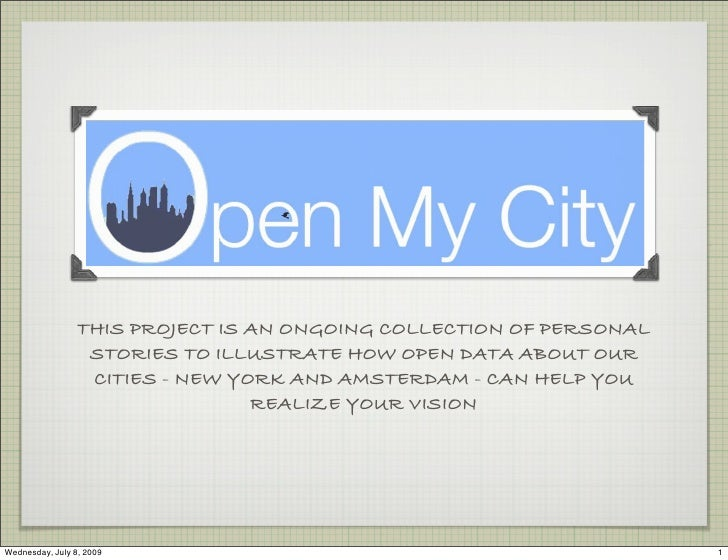 THIS PROJECT IS AN ONGOING COLLECTION OF PERSONAL                   STORIES TO ILLUSTRATE HOW OPEN DATA ABOUT OUR         ...