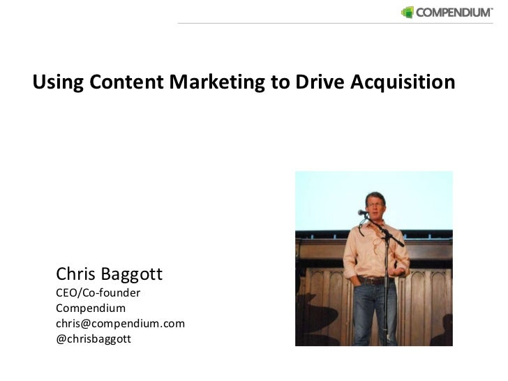 Using Content Marketing to Drive Acquisition